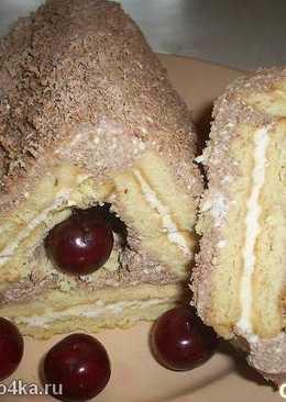 Десерт из печенья и творога без выпечки