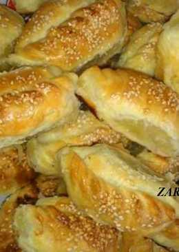 Гезлевские слоеные пирожки с мясом(Gezlev katmerli yantiklar)