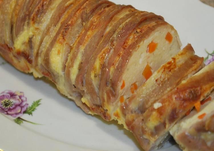 Куриное суфле с ломтиками бекона - очень вкусно