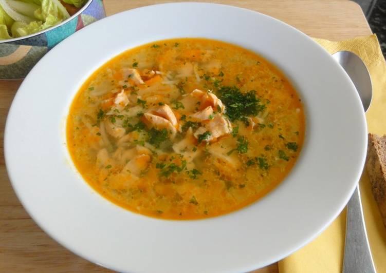 Суп из горбуши, рецепт