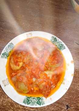 Кабачки тушенные с овощами