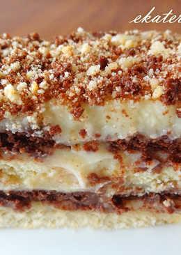 Торт без выпечки из печенья! Простой и вкусный