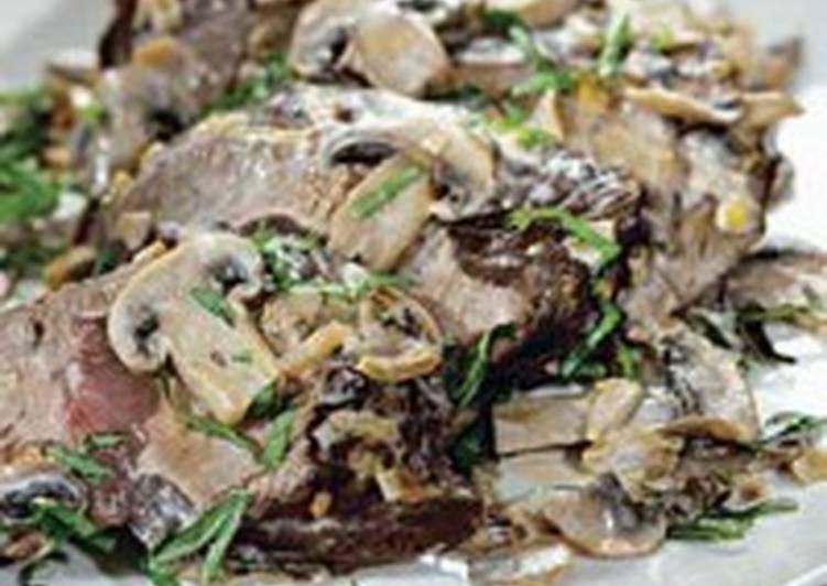 Говядина с грибами