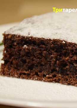 Шоколадно-ореховый творожный пирог