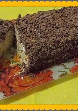 Творожный торт с печеньем без выпечки за 15 минут