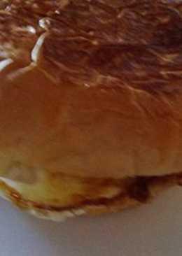 Супер быстрый завтрак. Гамбургер с яйцом