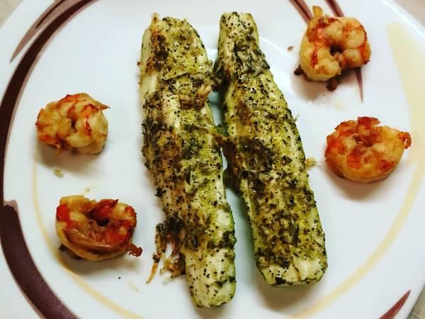 Кабачки запечёные с сыром и травами #кулинарныймарафон