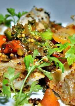 Сковородка с рыбой и овощами. Изыскано и просто. (Fish pan with vegetables)