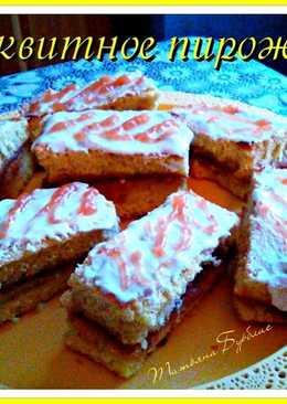 Легкое и нежное бисквитное пирожное