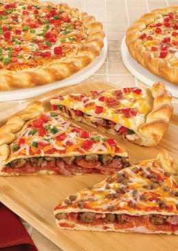 Двухслойная пицца на дрожжевом тесте