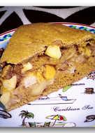 Пшенично-ржаной пирог с яблоками и корицей