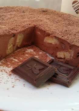 Запеканка творожно - шоколадная с бананом 🍌#кулинарныймарафон