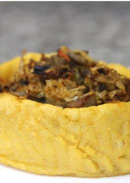 Постные картофельные корзинки с капустно-грибной начинкой.Постная кухня