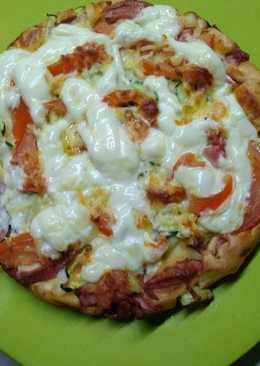 Быстрая пицца на сковородке