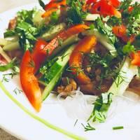 Тёплый салат «Фунчоза» #чемпионатмира #япония