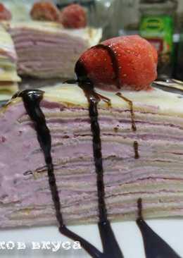 Торт из блинчиков с Творожно-вишневым кремом