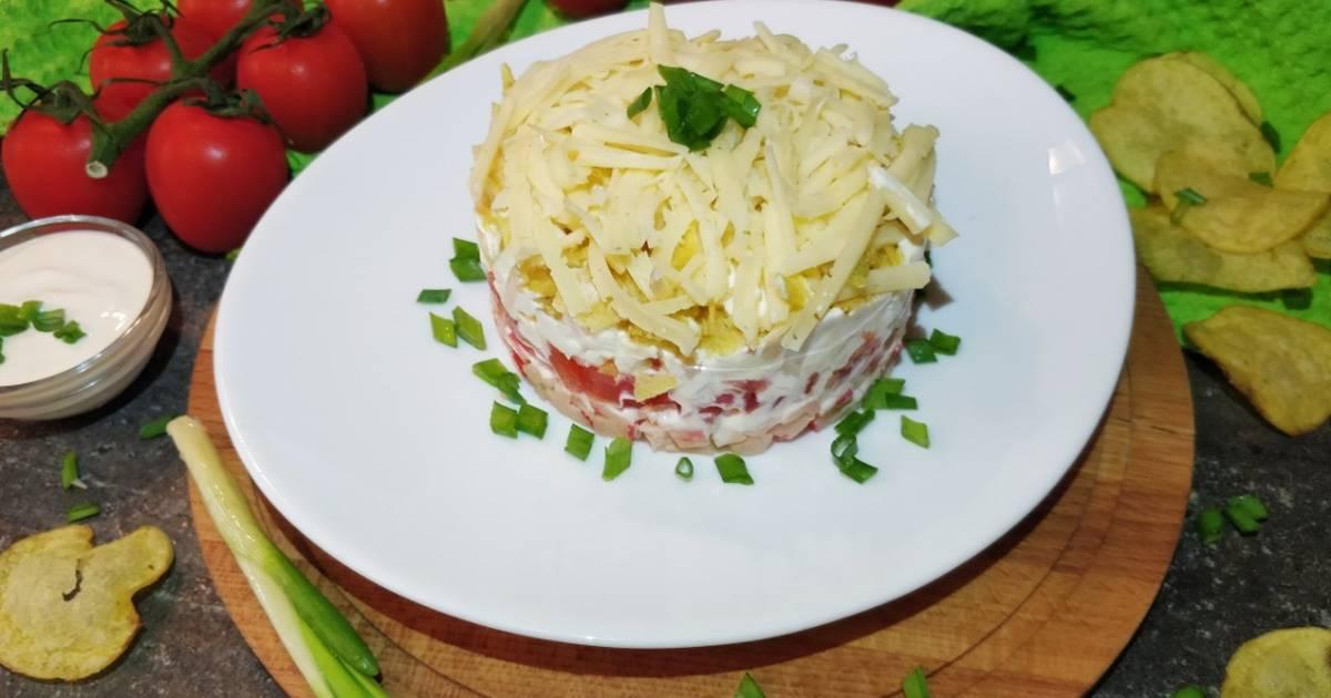 Чипсы в салате