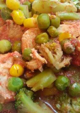 Рагу из курицы с овощами в духовке