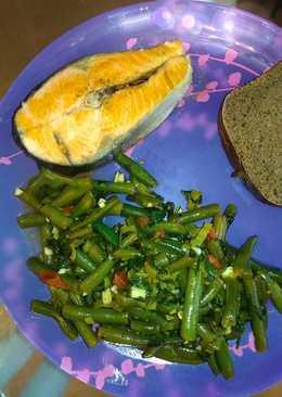 Ужин из кижуча и стручковой фасоли с овощами / metabolic balance