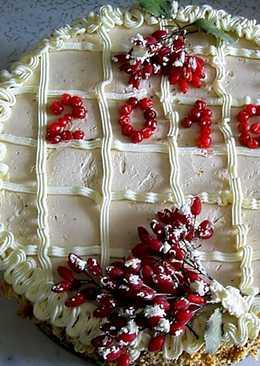 """Бисквитный домашний торт """"Новогодний"""""""