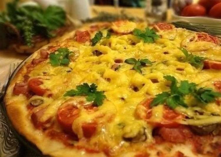 рецепт теста для итальянской тонкой пиццы