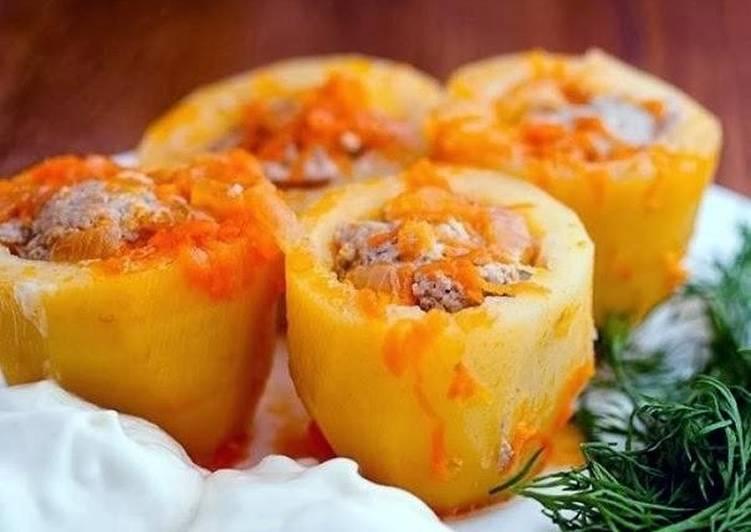 Самая вкусная фаршированная картошка