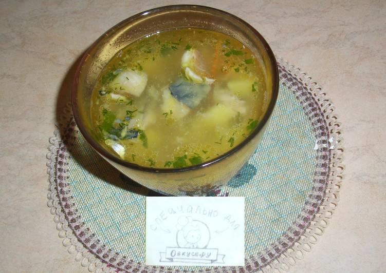 Суп с сельдереем и скумбрией