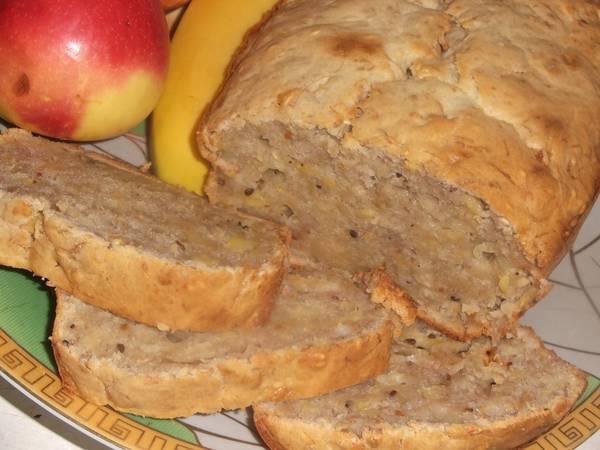 Яблочно-банановый кекс