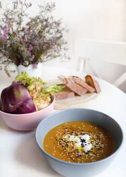 Чудесный суп с чечевицей, кольраби и сельдереем