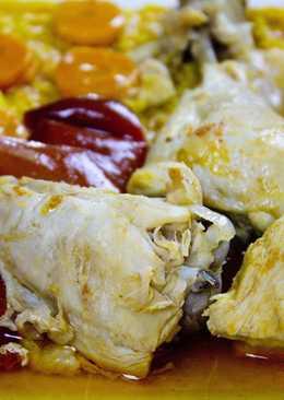 Курица с овощами в винном уксусе (испанская кухня)
