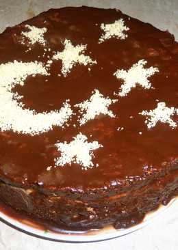 Торт Прага в самодельной формочке