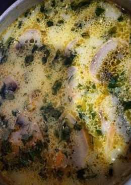 Грибной сырный суп