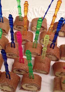 Роллы из печеночных блинов