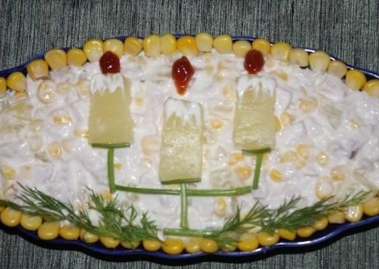 Новогодний салат «Канделябры»