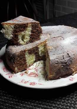 Мраморный пирог в скороварке