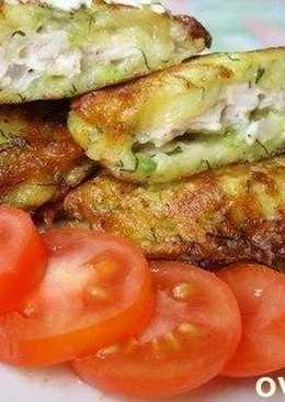 Колдуны из кабачка, с куриным филе