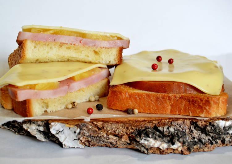 Гавайские бутерброды за 5 минут