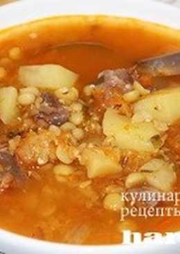 Гороховый суп с чечевицей