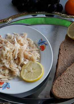 Салат с грyшеи и топинамбyром