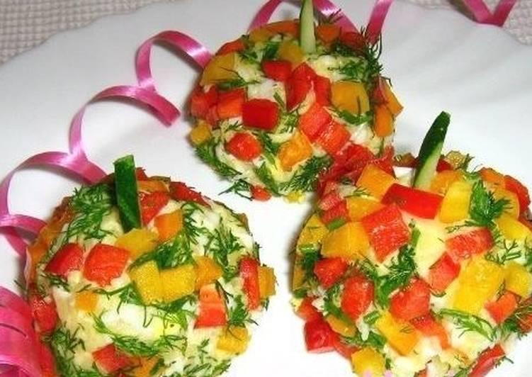 Овощной салат-гарнир «Новогодние шарики»