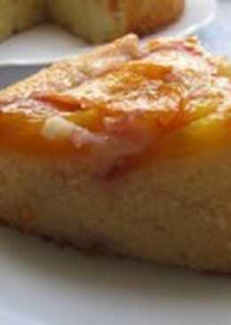 Апельсиново-яблочный постный пирог «Перевернутый»