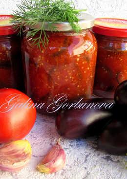 Баклажаны в томатной заливке #заготовки