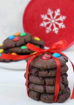 Шоколадное печенье с M&Ms