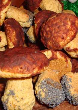 Печенье Грибочки - подберезовики и шампиньоны