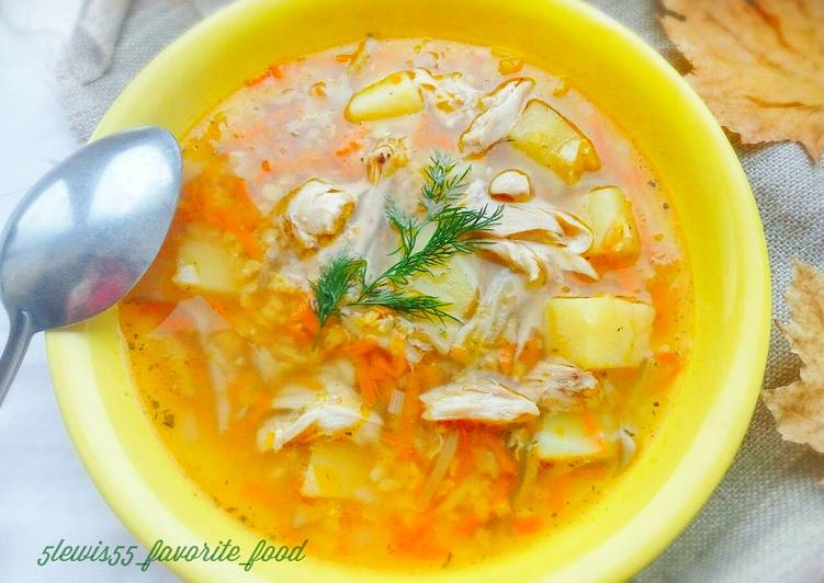 Легкий суп из курицы рецепт #4