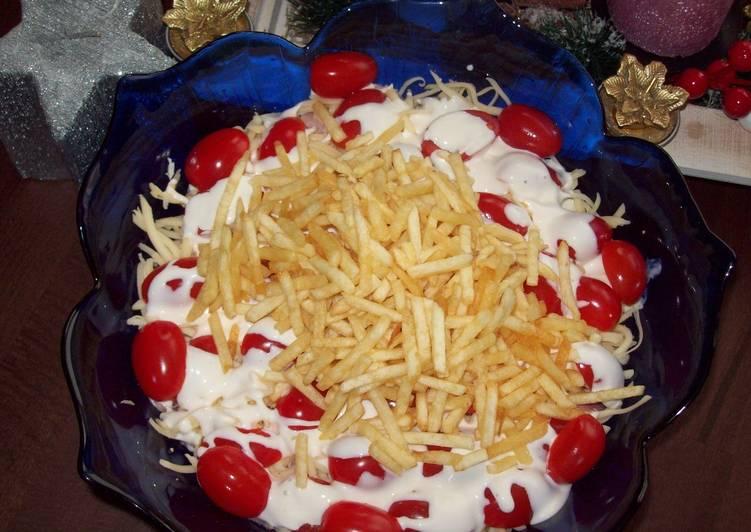 Салат сыр курица чипсы 2