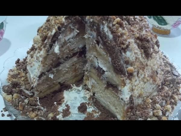 Простой торт без выпечки из 3 ингредиентов