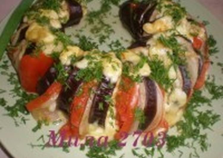 Вкуснейшие баклажаны в овощном сопровождении
