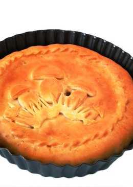 Пирог с гречкой и вешенками