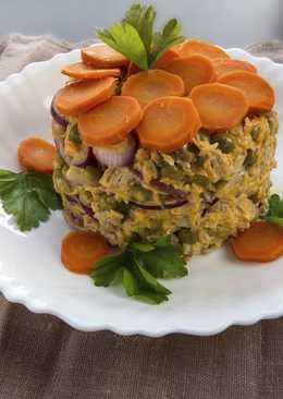 Мясной салат с маринованным луком - делается 5 минут, а съедается еще быстрее